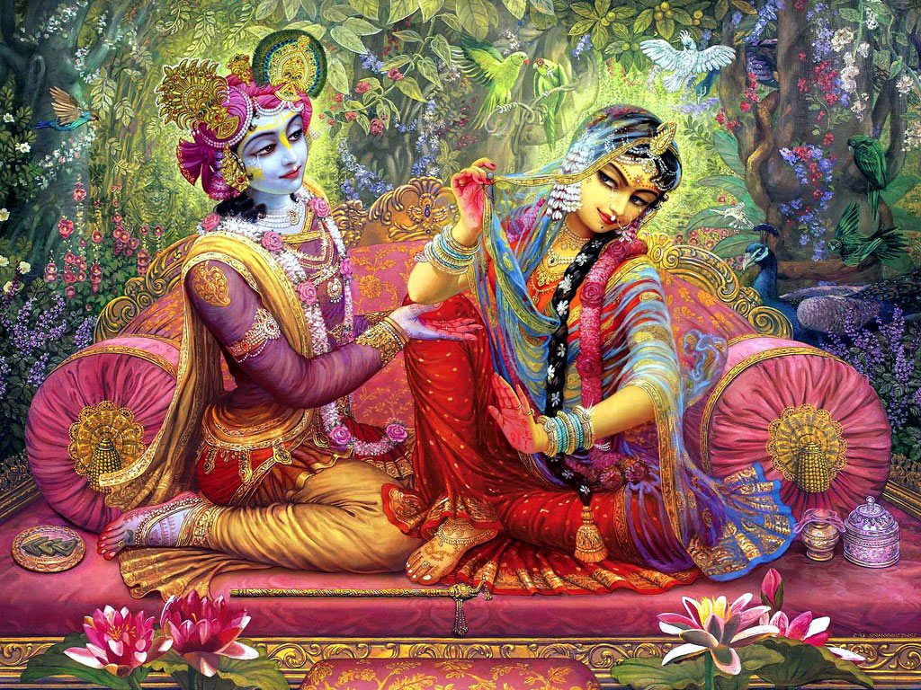 Hình ảnh 1024x768 Radha Krishna.  Tranh Radhe Krishna