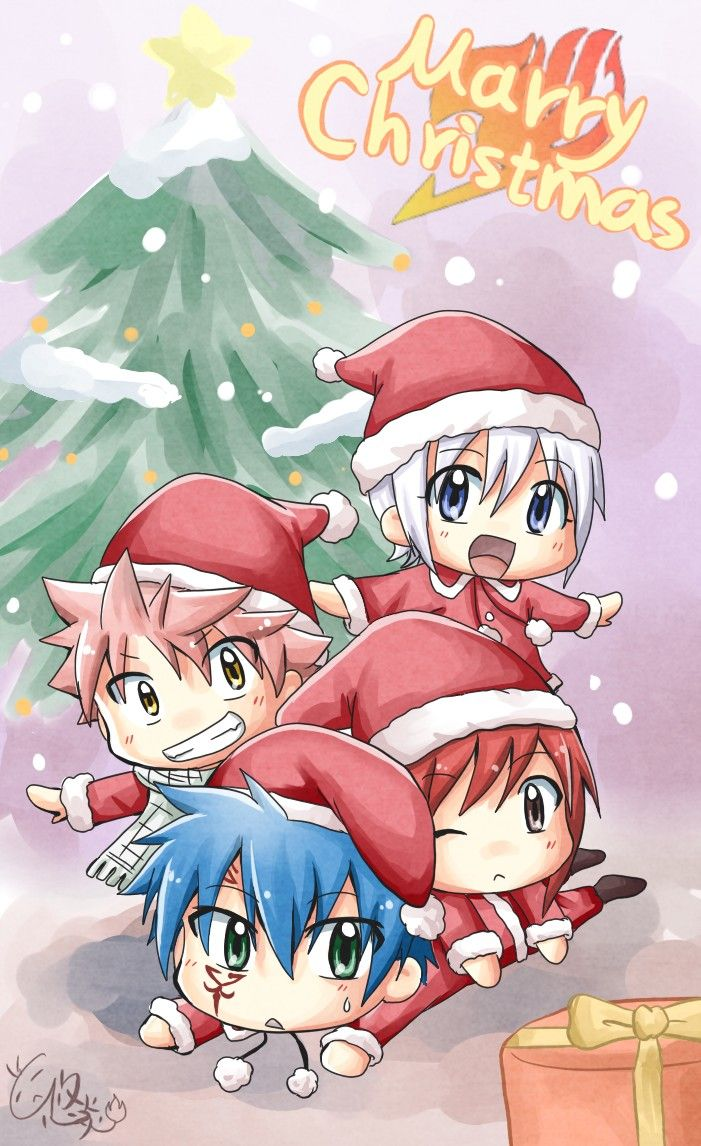 Fairy Tail Christmas Wallpapers Top Free Fairy Tail Christmas Backgrounds Wallpaperaccess