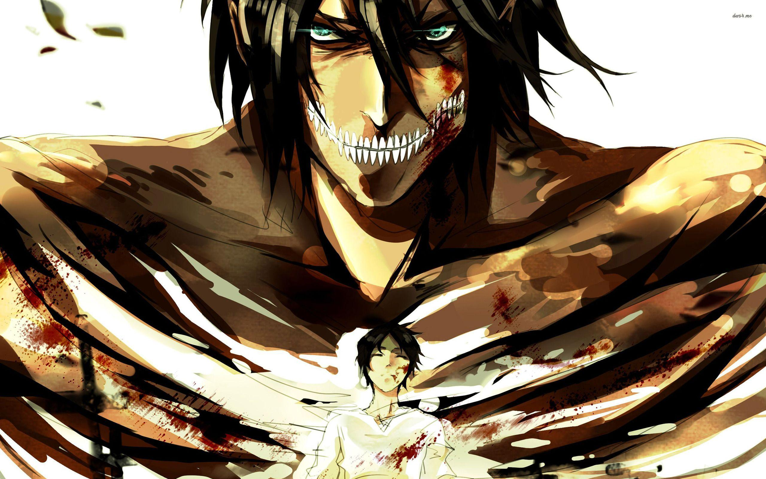 Titan Eren Wallpapers Top Free Titan Eren Backgrounds Wallpaperaccess