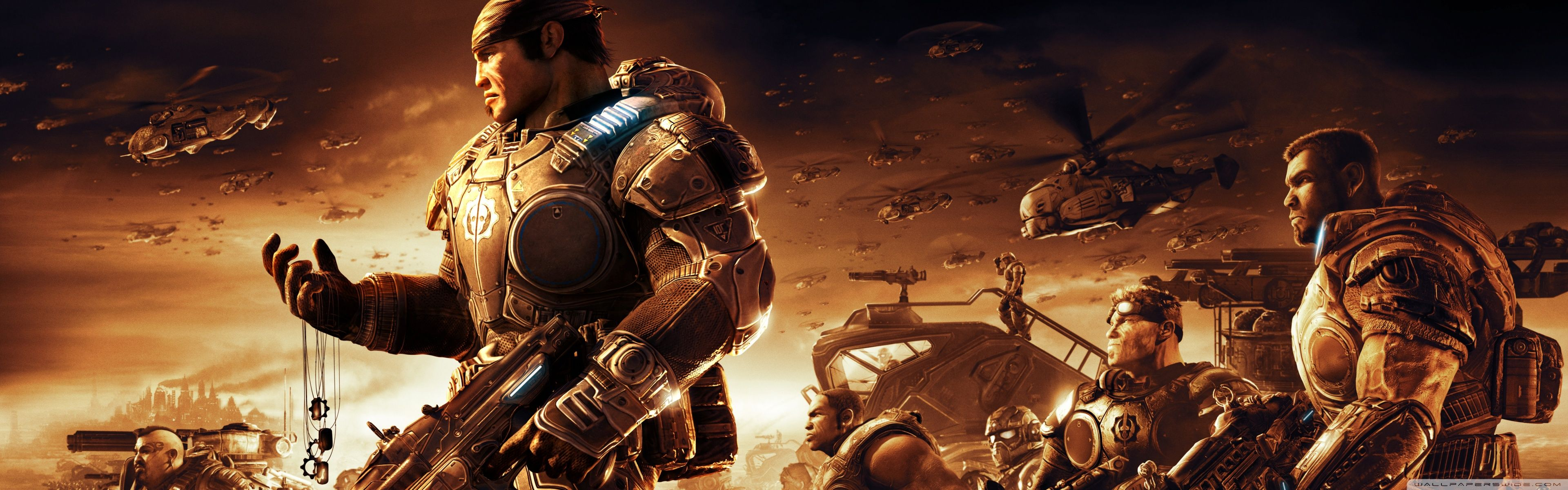 Gears Of War Dual Screen Wallpapers Top Free Gears Of War Dual Screen Backgrounds Wallpaperaccess