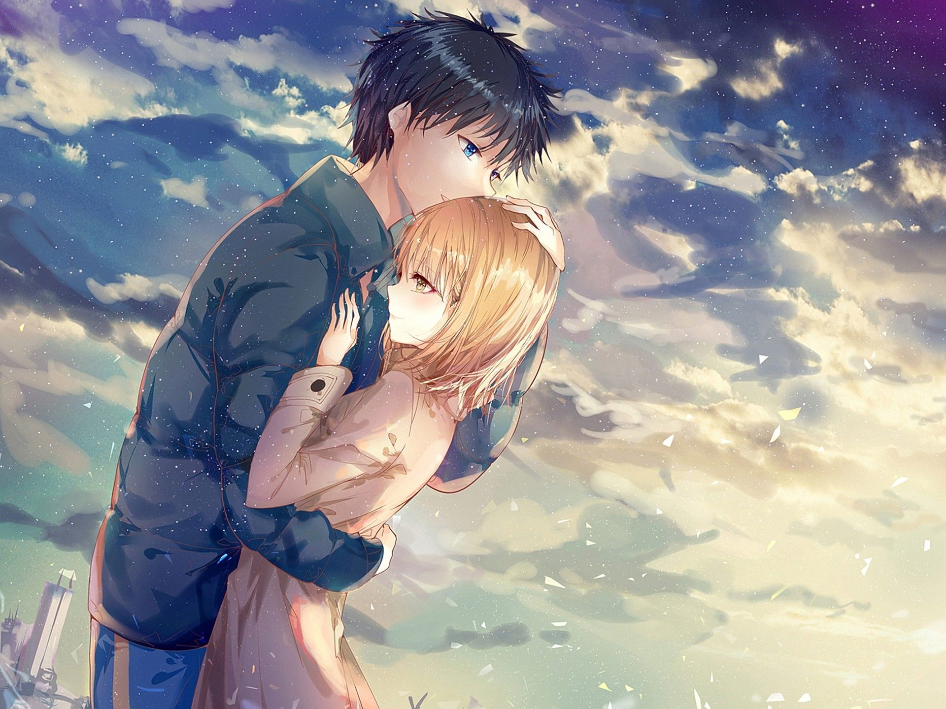 Cute Anime Couples Wallpapers Top Free Cute Anime Couples Backgrounds Wallpaperaccess