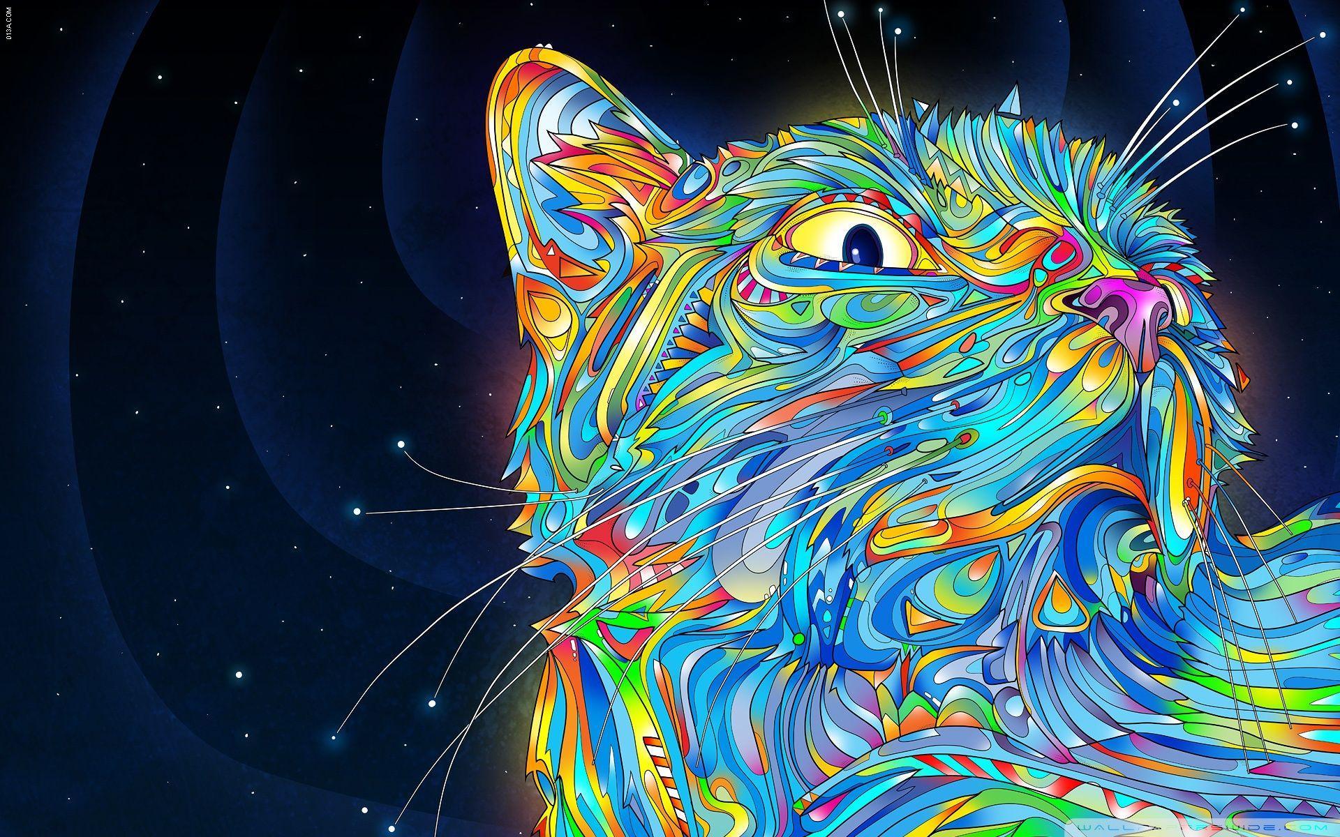 63 Best Free Cat Art Wallpapers Wallpaperaccess