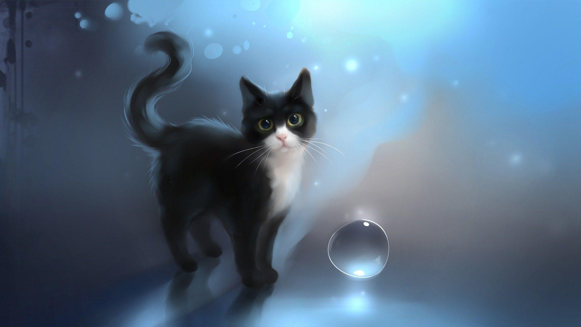 Cat Art Wallpapers Top Free Cat Art Backgrounds Wallpaperaccess