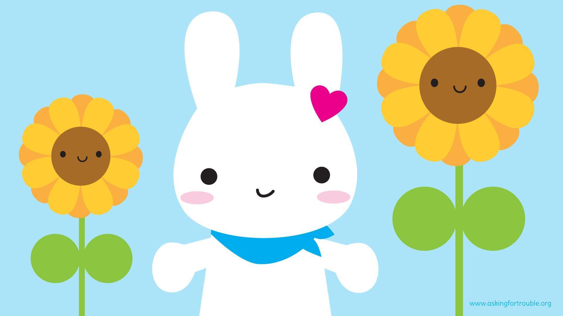 1920x1080 Kawaii Bunny hình nền