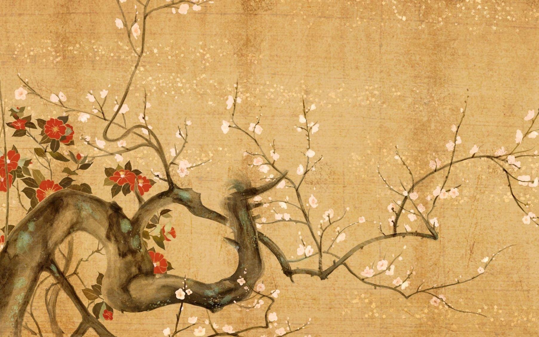 Japanese Art Wallpaper Flower