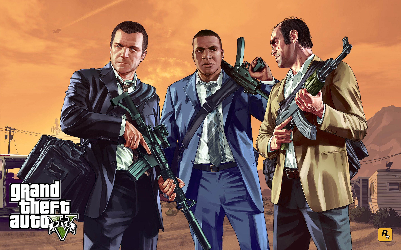 GTA 5 Michael Franklin Trevor Wallpapers - Top Free GTA 5