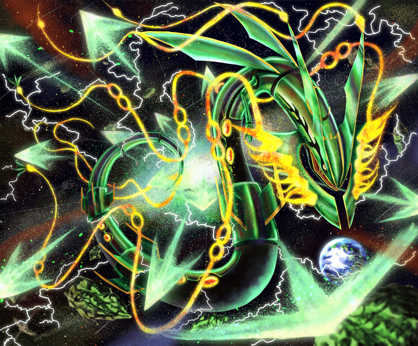 Rayquaza Wallpapers Top Free Rayquaza Backgrounds Wallpaperaccess