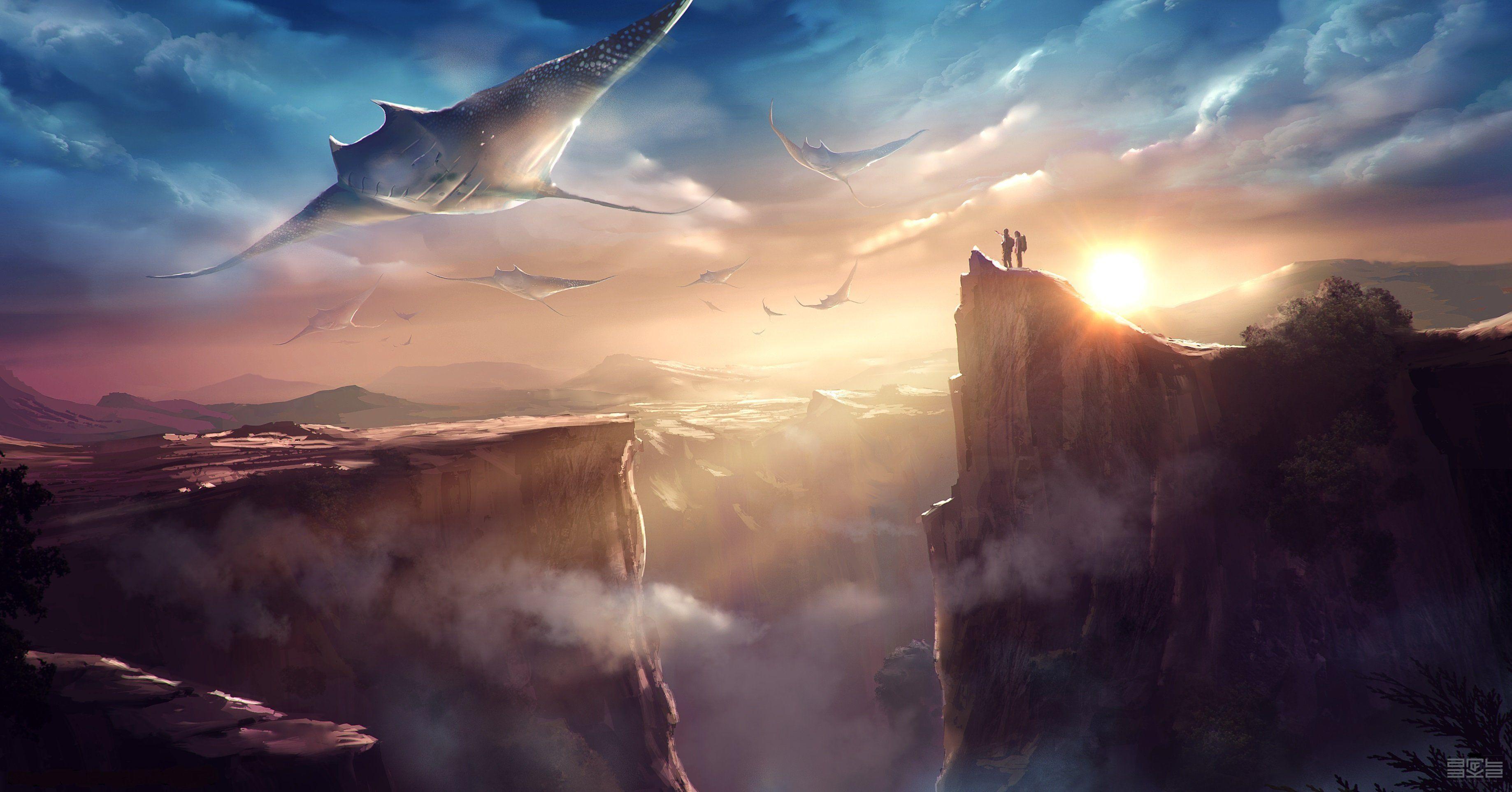 fantasy sci fi wallpaper 29266 hd wallpapers background t