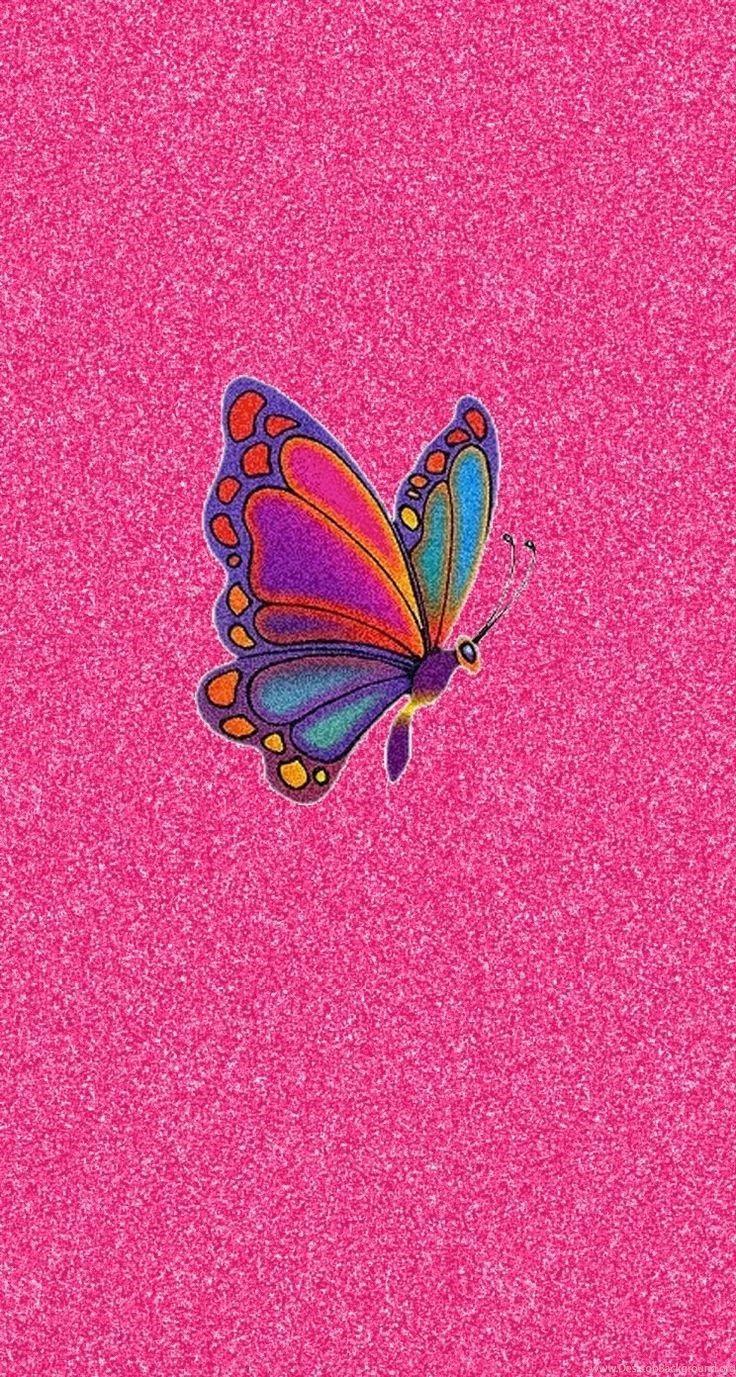 736x1377 Con bướm màu hồng long lanh đầy màu sắc Hình nền iPhone Hình nền máy tính để bàn