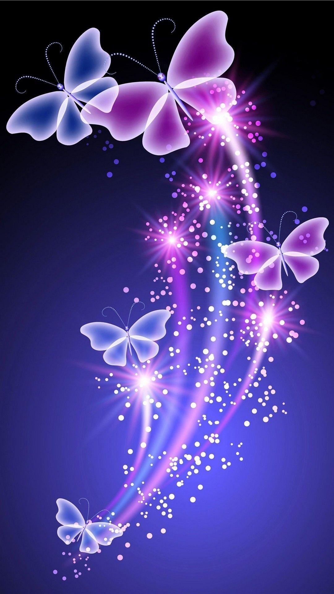 Hình nền hình nền con bướm xinh xắn 1080x1920