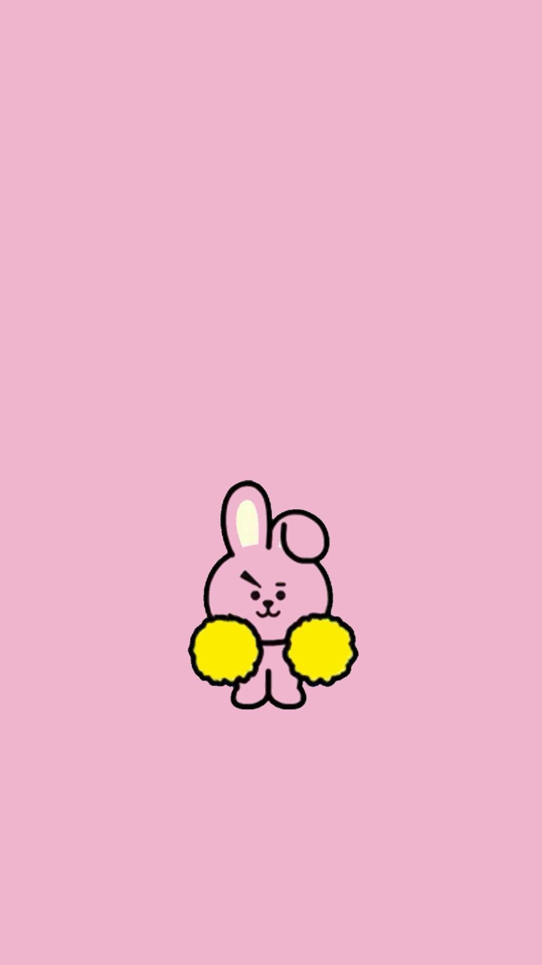 1080x1920 Pinkish Tough Bunny COOKY #eyebrows.  BT21 hình nền vào năm 2019. BTS