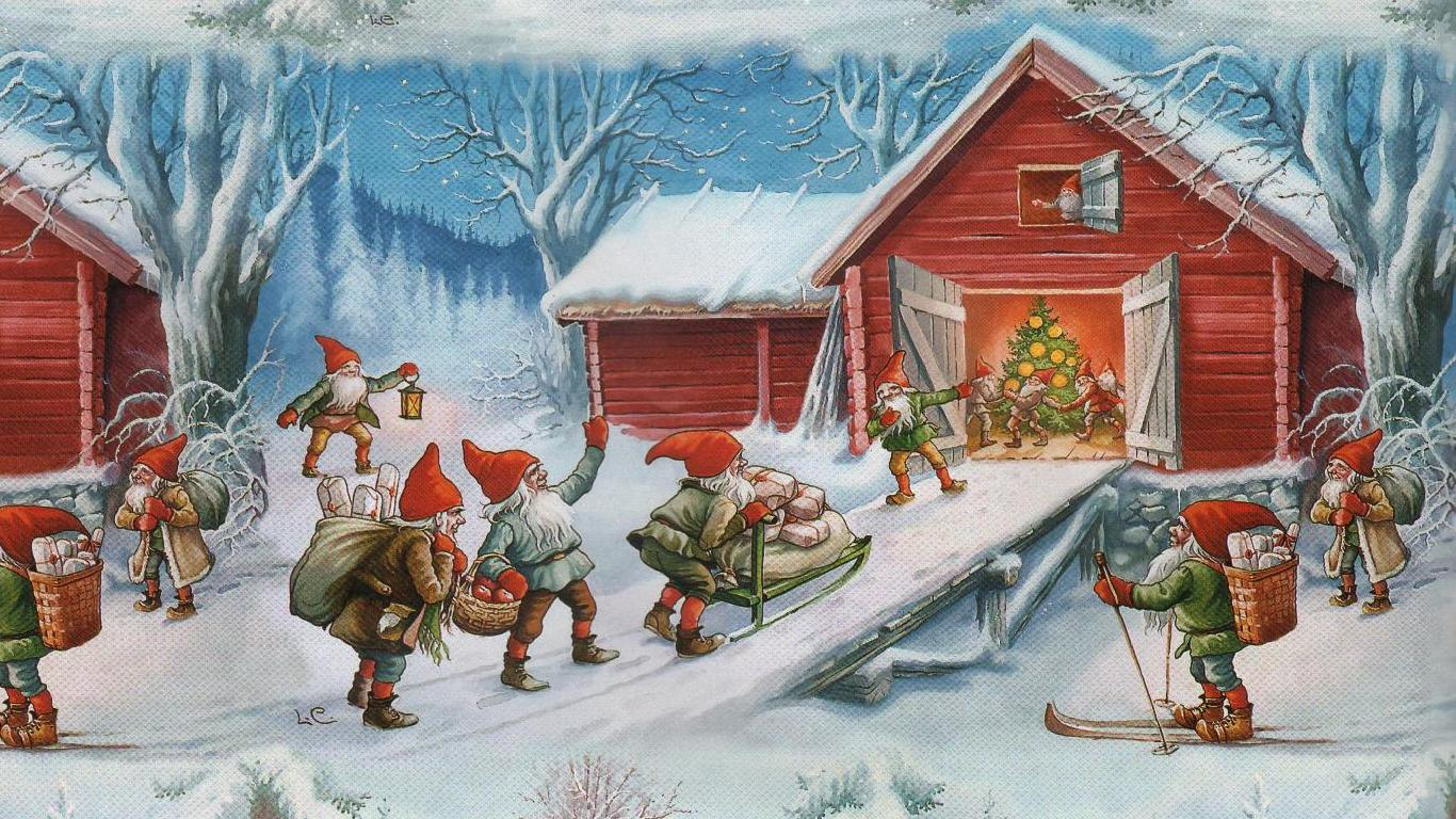 christmas elves wallpapers
