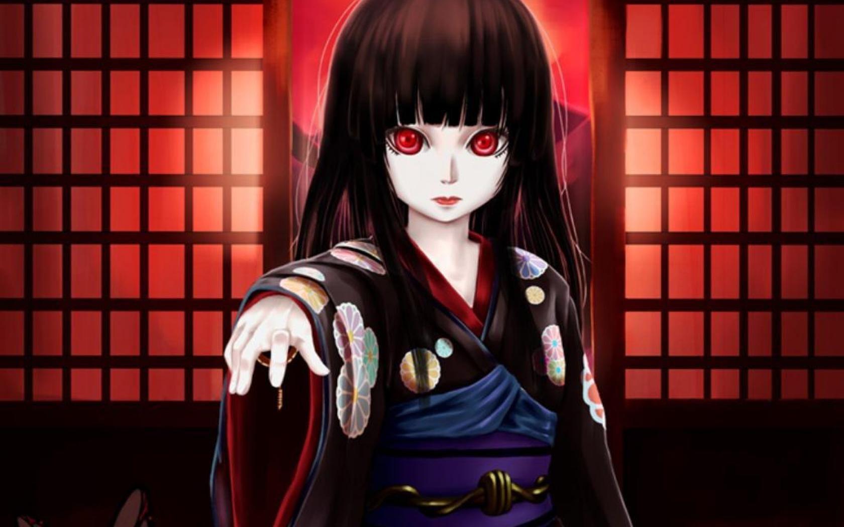 Hình nền cô gái kinh dị anime 1680x1050 HD cho Android.  Những thứ để mặc