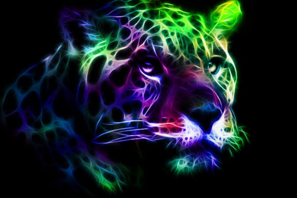 Neon Animal Abstract Wallpaper