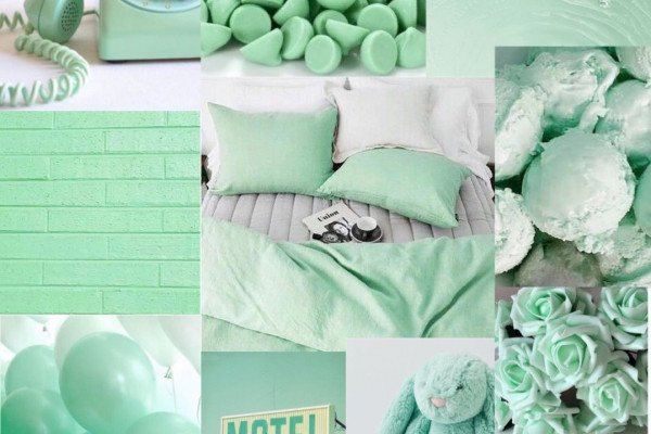 Mint Green Aesthetic Wallpaper