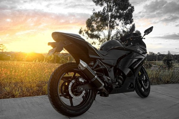 Black Kawasaki Ninja Girl Wallpaper