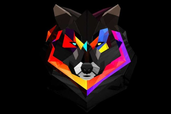 Abstract Wolf Wallpaper
