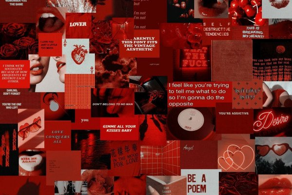 Red Aesthetic Tumblr Laptop Wallpaper