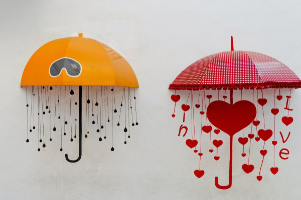 Cute Umbrellas Wallpaper