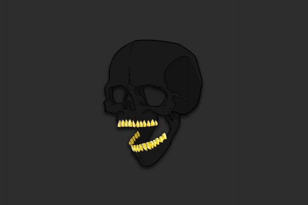 Minimalist Skull Wallpaper