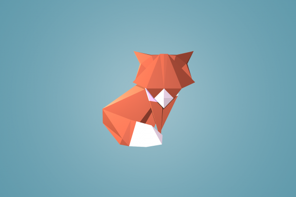 Geometric Fox Wallpaper