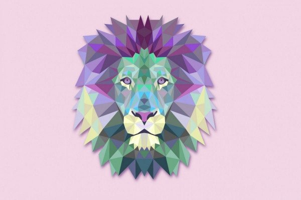 Lion Geometric Wallpaper