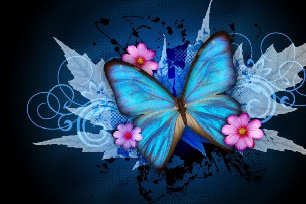 Abstract Butterflies Desktop Wallpaper