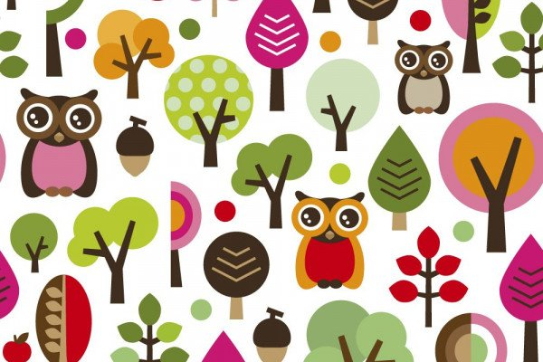 Cute Cartoon Owl Wallpaper