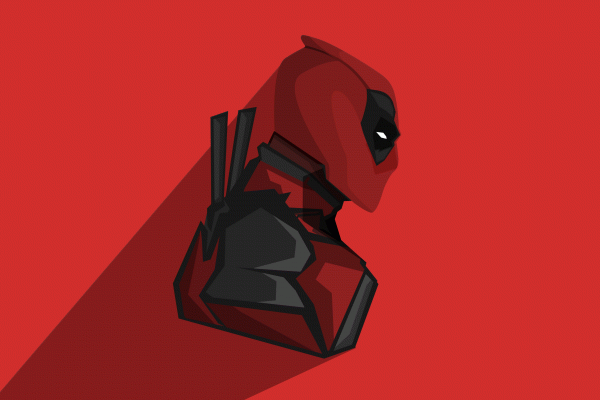 Deadpool Minimalist Wallpaper