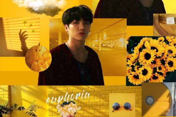 BTS Yellow Aesthetic Wallpaper