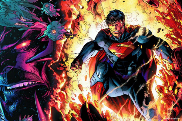 Angry Superman Laptop Wallpaper