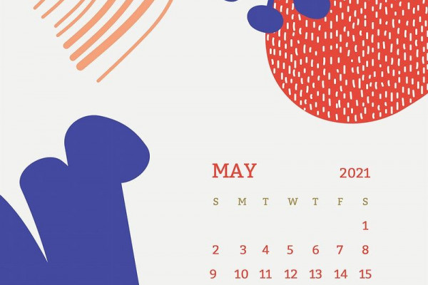 May 2021 Calendar Wallpaper