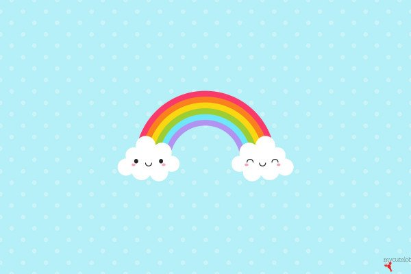 Cute Rainbow Wallpaper