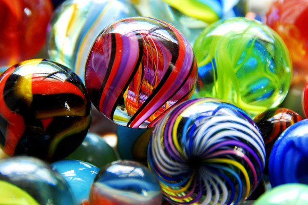 Glass Marbles Computer Wallpaper