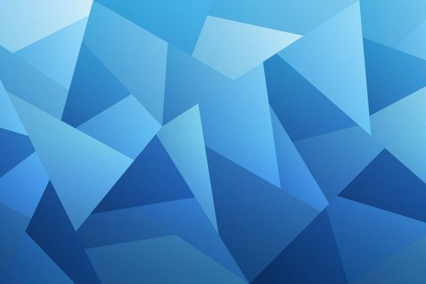 Blue Triangle Wallpaper