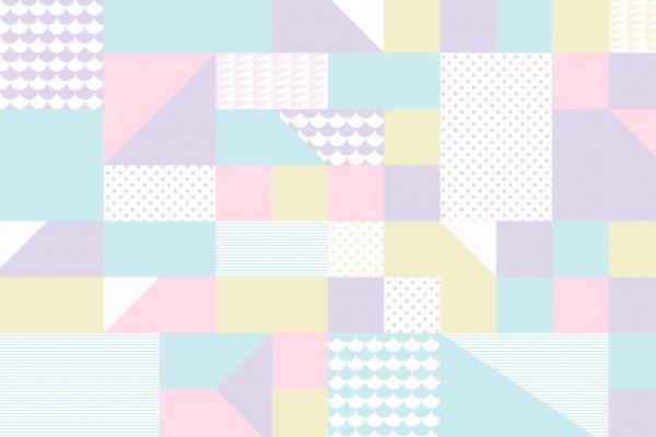 Pastel Geometric Wallpaper