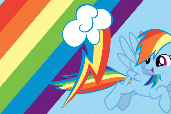 Cute Rainbow Dash Desktop Wallpaper